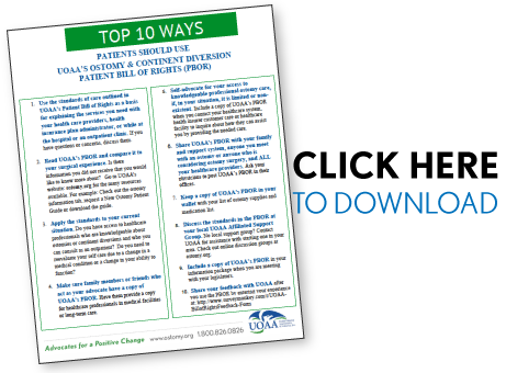 top ten ways patients should use UOAA's bill of rights to achieve optimal care results.